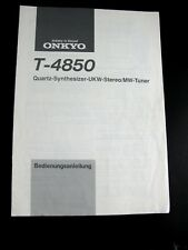 ORIGINAL Bedienungsanleitung Operating Manual Tuner ONKYO T-4850 en