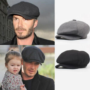 6fbaf9db9a4 Mens Tweed Newsboy Cap Peaky Blinders Baker Boy Flat Check Grandad ...