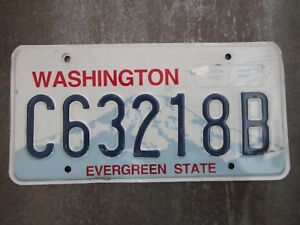Washington-C63218B-American-License-Number-Plate-Collecting-Craft-Hobby