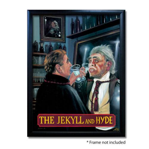 JEKYLL /& HYDE PUB SIGN POSTER PRINTHome BarMan CavePub Memorabilia