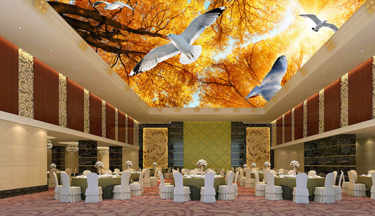 3D Autumn Woods 4 Ceiling WandPapier Murals Wand Drucken Decal Deco AJ WandPapier UK