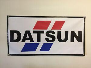 DATSUN AUTHORIZED SERVICE DEALER OLD SCHOOL SIGN REMAKE BANNER GARAGE ART 2 X 4
