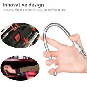 1-4-034-Hex-Drill-Bit-Flexible-Screwdriver-Extension-Socket-Holder-Adapter-30cm-G9A