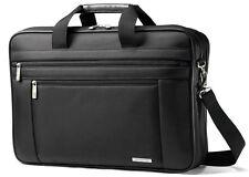 "Samsonite Classic Business 2 Gusset 17"" Laptop Toploader Briefcase - Black"