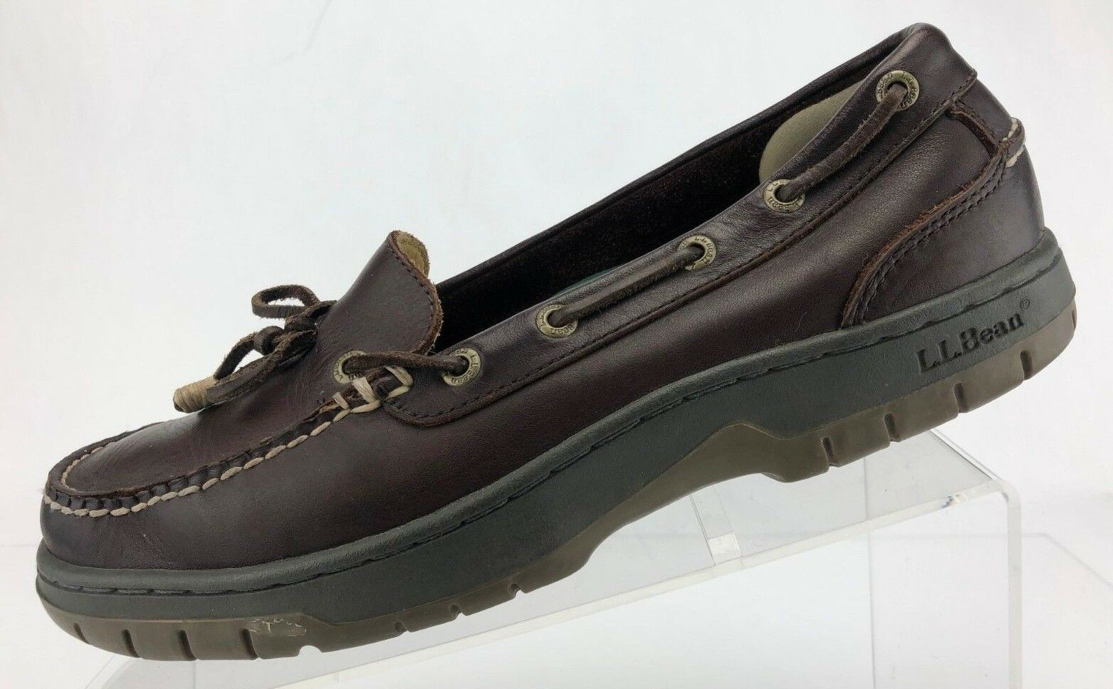 L.L. Bean Boat shoes Driving Moccasin Brown Leather Moc Toe Loafers Mens 8.5 M