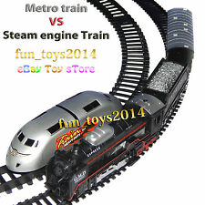 Metor Train Race With Steam Locomotive Train Toy Good Gift For Birhtday kids