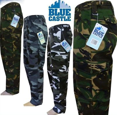 Blue Castle 901 work workwear camo army military outdoor cargo combat trousers