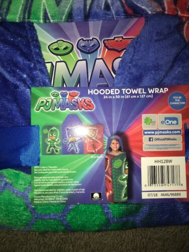 "PJ Masks Hooded Beach Towel New 24/""x50/"""