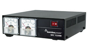 SAMLEX-SEC-1235M-13-8-volts-35-amp-DC-power-supply-with-meters-DEALER-20-YEARS
