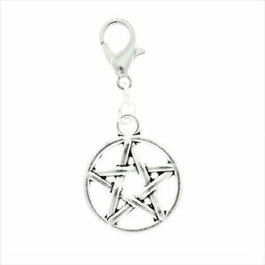 AVBeads Clip-On Clasp Metal Silver Celtic Pagan Wiccan Sword Athame Charms