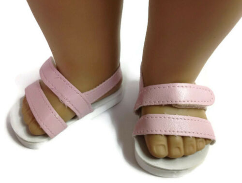 """Pink Sandal Shoes made for 18/"""" American Girl Doll Clothes"""