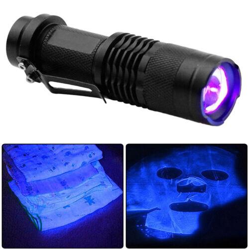1pcs High Powered UV Lamp Black Light Ultra Violet Flashlight 365nm 5W LED Best