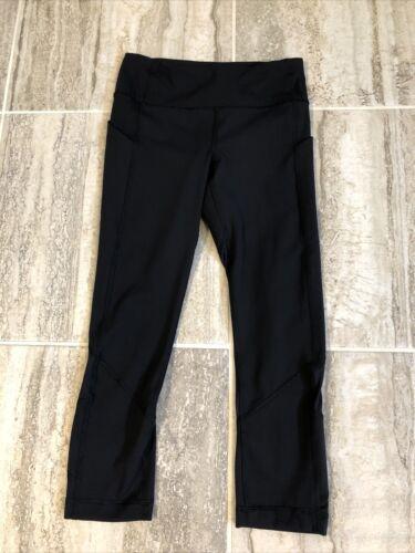 Lululemon Pace Rival Crops Black Size 4