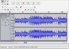 MUSIC RECORDING SOFTWARE RECORD VINYL TO COMPUTER MP3 FULL COMPLETE PROGRAM