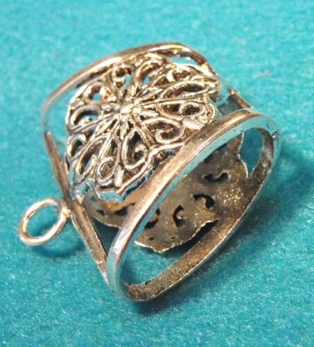 5Pcs Tibetan Silver Huge FLOWER  SCARF BAILS  Jewelry Findings SBA71