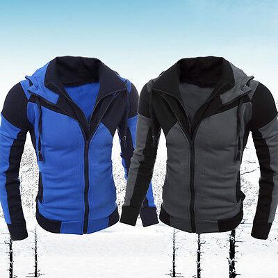 Mens Casual Long Sleeve Hoodies Sweats Sweatshirt Hooded Jacket Coat Tops Blouse