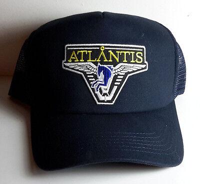 STARGATE ATLANTIS Dark Blue Logo Baseball//Trucker Cap//Hat Black Cap-FREE S/&H