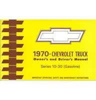 1970 Chevy Truck Owner's Manual