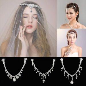 Crystal-Rhinestone-Bridal-Head-Chain-Headband-Forehead-Hair-Jewelry-Head-Piece
