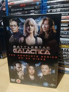 Battlestar-Galactica-The-Complete-Series-25-Discs-DVD-UK-Release-NEW-amp-SEALED