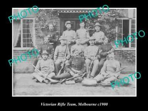 OLD-POSTCARD-SIZE-PHOTO-OF-THE-VICTORIAN-RIFLE-TEAM-MELBOURNE-c1900-1