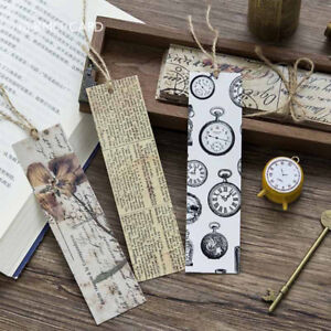 30pc-Box-Vintage-Bookmark-Book-Mark-Magazine-Note-Pad-Label-Memo-Stationery-Gift