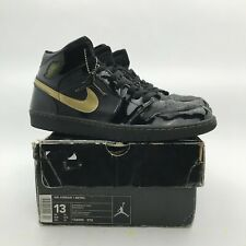 huge selection of db5e9 bcea9 2003 Nike Air Jordan 1 Retro Metallic Gold Patent Leather USED 136085-070  US 13