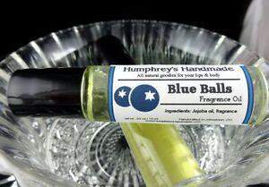 Image Is Loading Blue Balls Blueberry Cologne Oil Roll On Jojoba