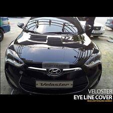 Head Light Eye Line Molding Cover 2Pcs Pantom Black for HYUNDAI 2011-17 Veloster