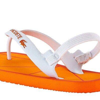 Lacoste Naranja Surfista FlipFlops BNWT UK4 EU20 US5 para bebés infantes niños niñas RRP £ 18