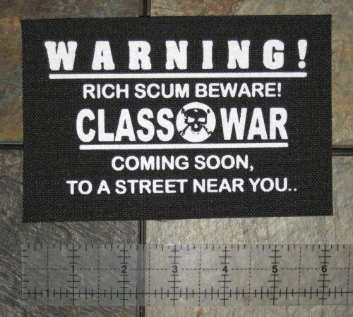 Class War Patch Crust Punk Phobia Disrupt Los Crudos Leftover Crack Human Rights