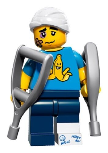 LEGO 71011 CLUMSY GUY Collectible Minifigures Series 15 SEALED CMF crutches