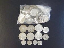 Lot of 120 U.S. 90% Silver Coins Minted 1964 & Before $30.15 Face Value