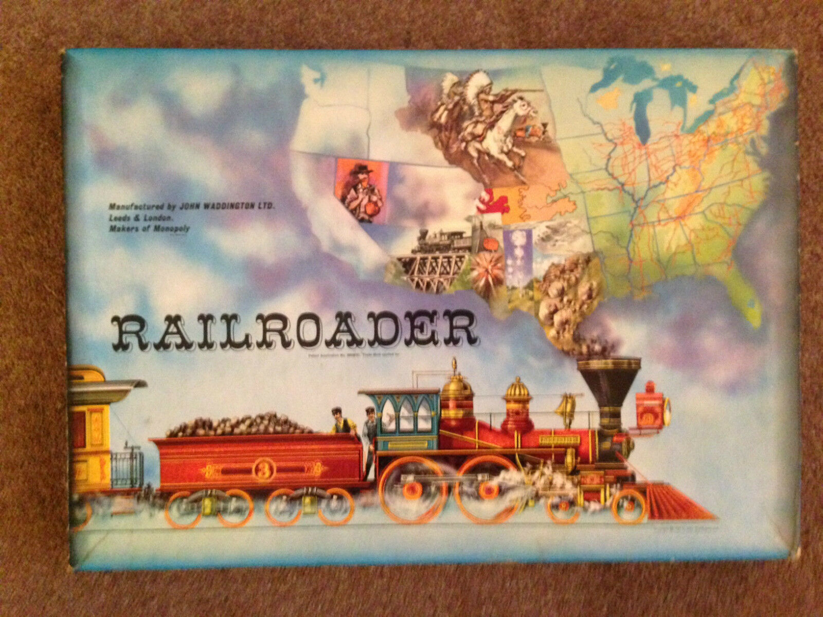 WADDINGTONS  Railroader  Very Rare Vintage family Board Game (VGC) 1960s