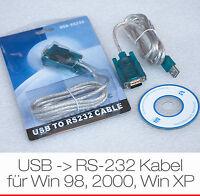 KABEL USB AUF SERIELL SERIEL RS-232 RS232 FÜR WINDOWS WIN 98 98se 2000 XP VISTA