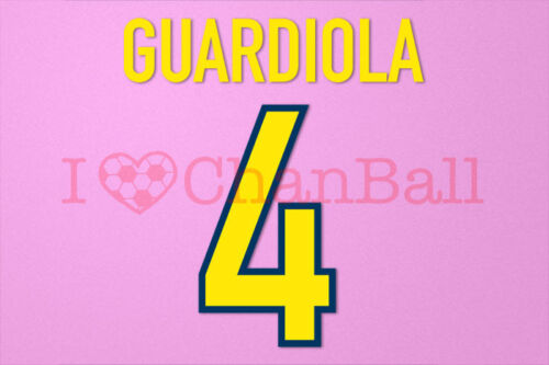 Guardiola #4 1998-1999 Barcelona Homekit Nameset Printing