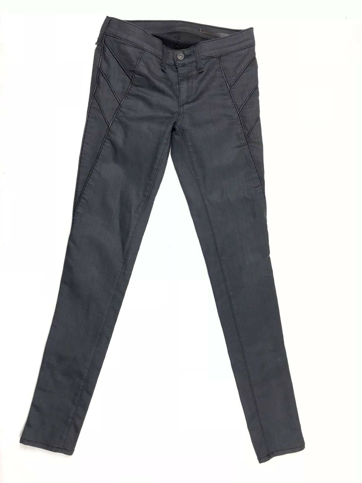 Rag & Bone Trench Legging with Lamb Leather Piping Stretch Pants Size 25