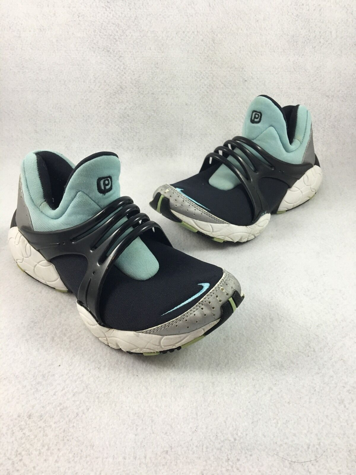 Nike Air Presto Cage Mens Size 7.5 Women's 9 Black And Teal 631035-041 / 010103
