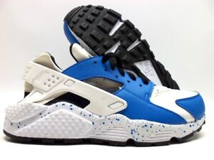 finest selection 4dc0f c1099 Details about NIKE AIR HUARACHE RUN ID WHITE/NAVY BLUE-BLACK SIZE WOMEN'S  7.5 [777331-994]
