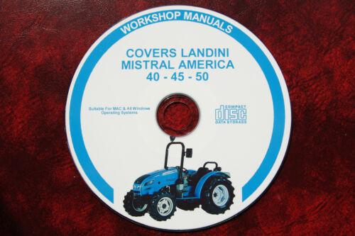 LANDINI MISTRAL 40-45 50  TRACTOR WORKSHOP SERVICE REPAIR MANUAL