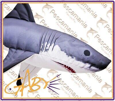 cuscino pesce NEON idea regalo pesca pescatore peluche Gaby pillow cm.53
