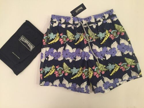 New w Tags /& Bag Authentic Vilebrequin Moorea Navy Blue Swim Trunks Men Size XL