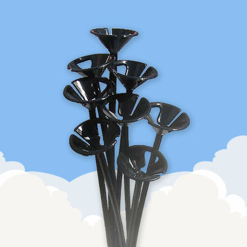 Couleur noire 20 Bâtonnets de ballon.. support en plastique partie long tall 1 piece set