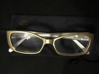Reading Glasses By Iman +3.50 Champagne Gold W/ Rhinestones Crystals Gems