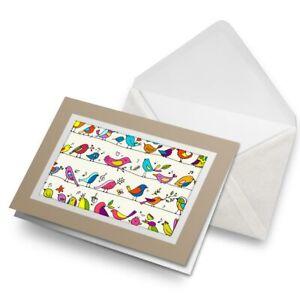 Greetings-Card-Biege-Cartoon-Birds-Small-Garden-Bird-15794