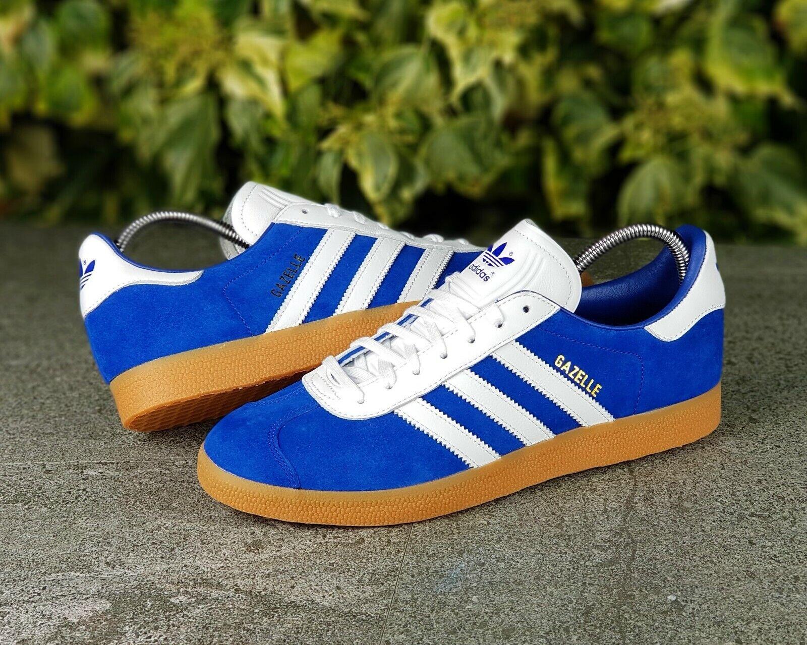 BNWB & Genuine Adidas Originals ® Gazelle  Athen  Blau Suede Trainers UK Größe 10 Ausverkauf