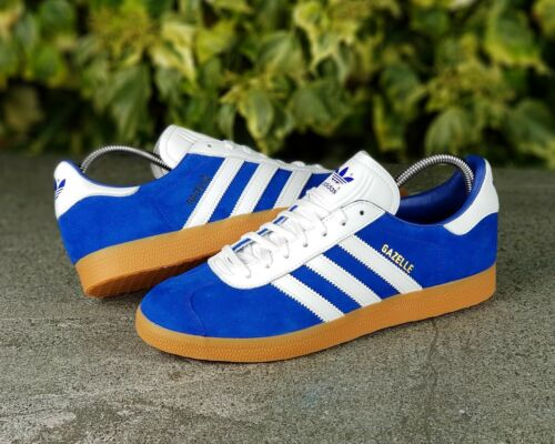 the best attitude 6a87e 4ed4c pelle blu taglia Scarpe da Adidas Genuine Originals 10 ® Gazelle Bnwb Uk  scamosciata in athen ginnastica qnzOwxpYP