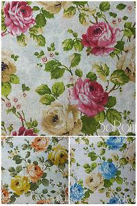 Stoff-Moebel-Blumen-Segeltuch-Kissen-Tischdecken-Vorhang-Tagesdecke-Sofa-Sarani