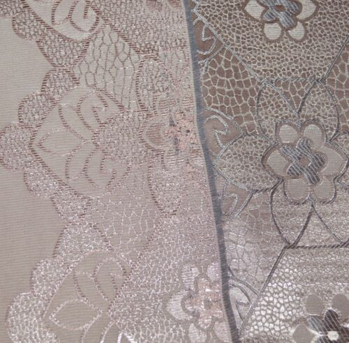 HC341g Light Antique Mauve Silver Floral Jacquard Fabric Bolster Cover Yoga Case