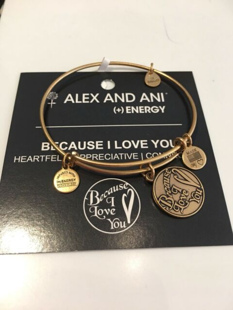 Authentic Alex and Ani BECAUSE I LOVE YOU Gold ($28) NWT, Box And Card